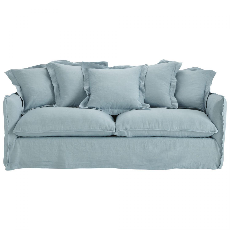 Canap bleu gris - Canape capitonne gris ...