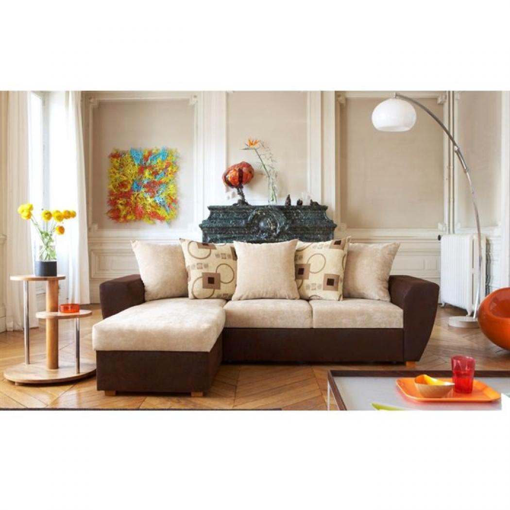 photos canap beige et marron. Black Bedroom Furniture Sets. Home Design Ideas
