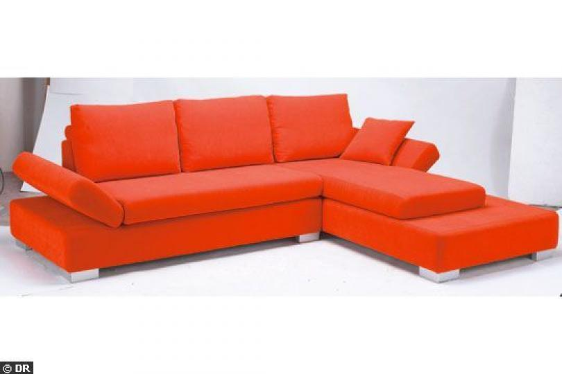 Photos canap conforama orange et marron for Canape modulable conforama