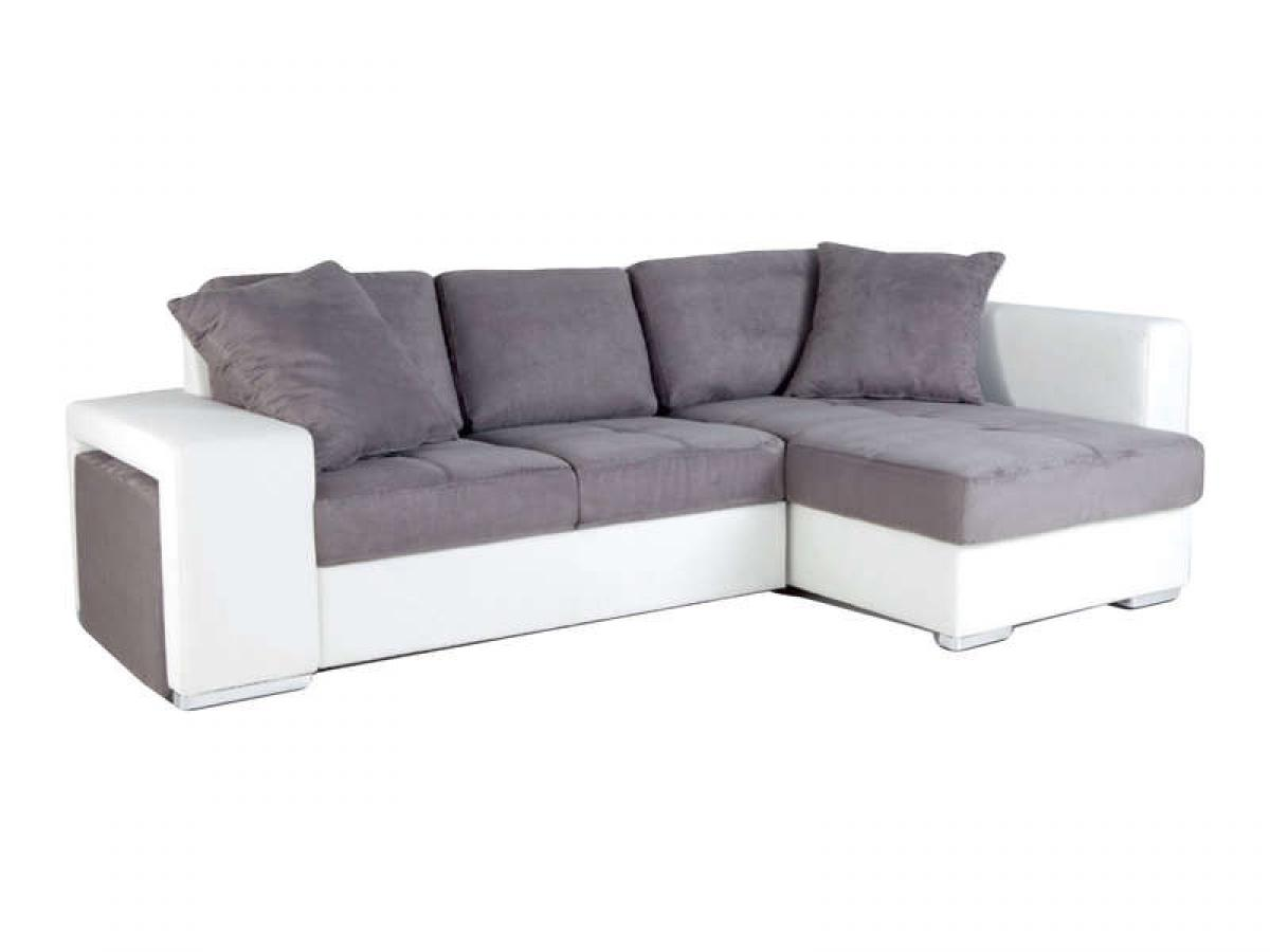 Photos canap conforama blanc et gris for Canape cuir blanc conforama