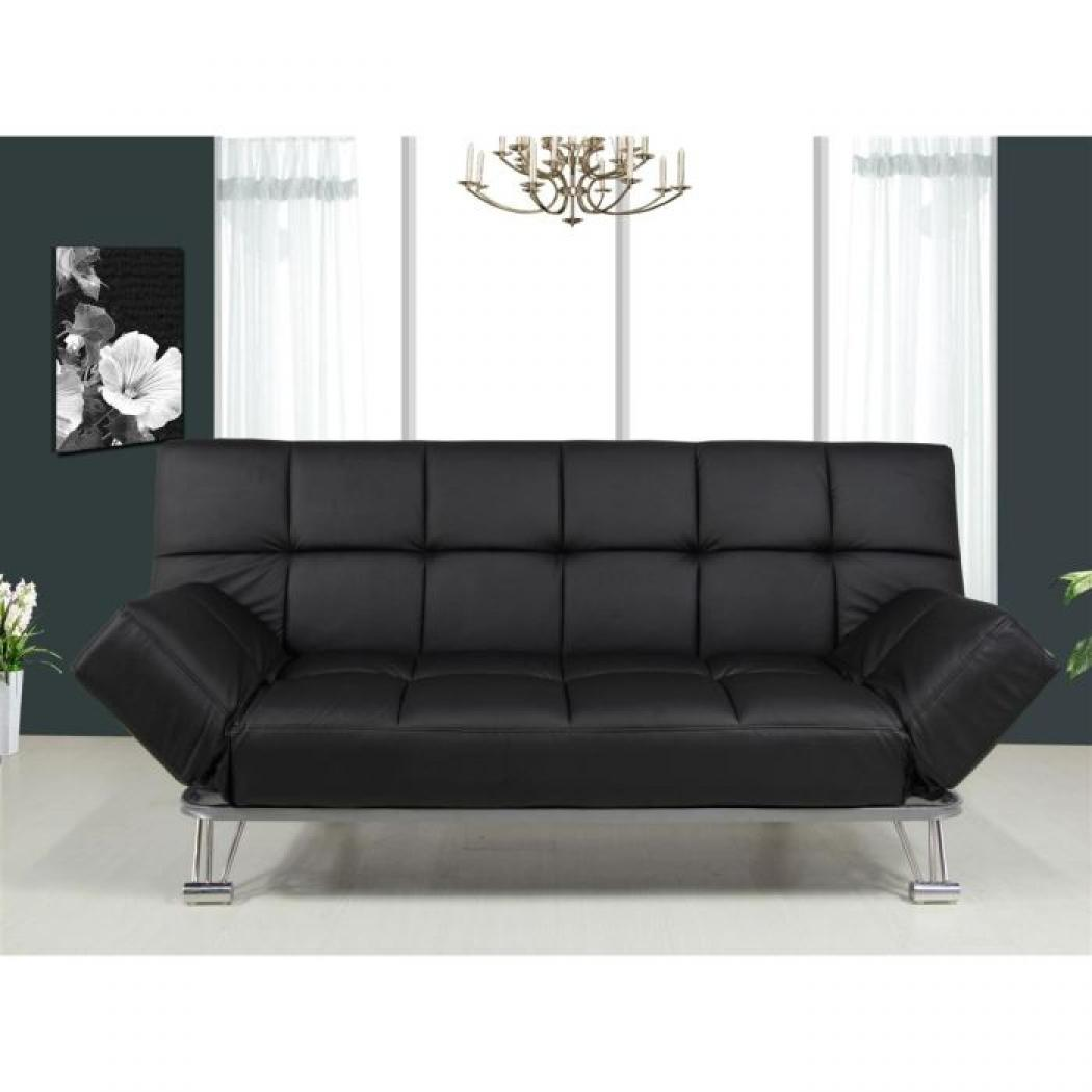photos canap clic clac noir. Black Bedroom Furniture Sets. Home Design Ideas