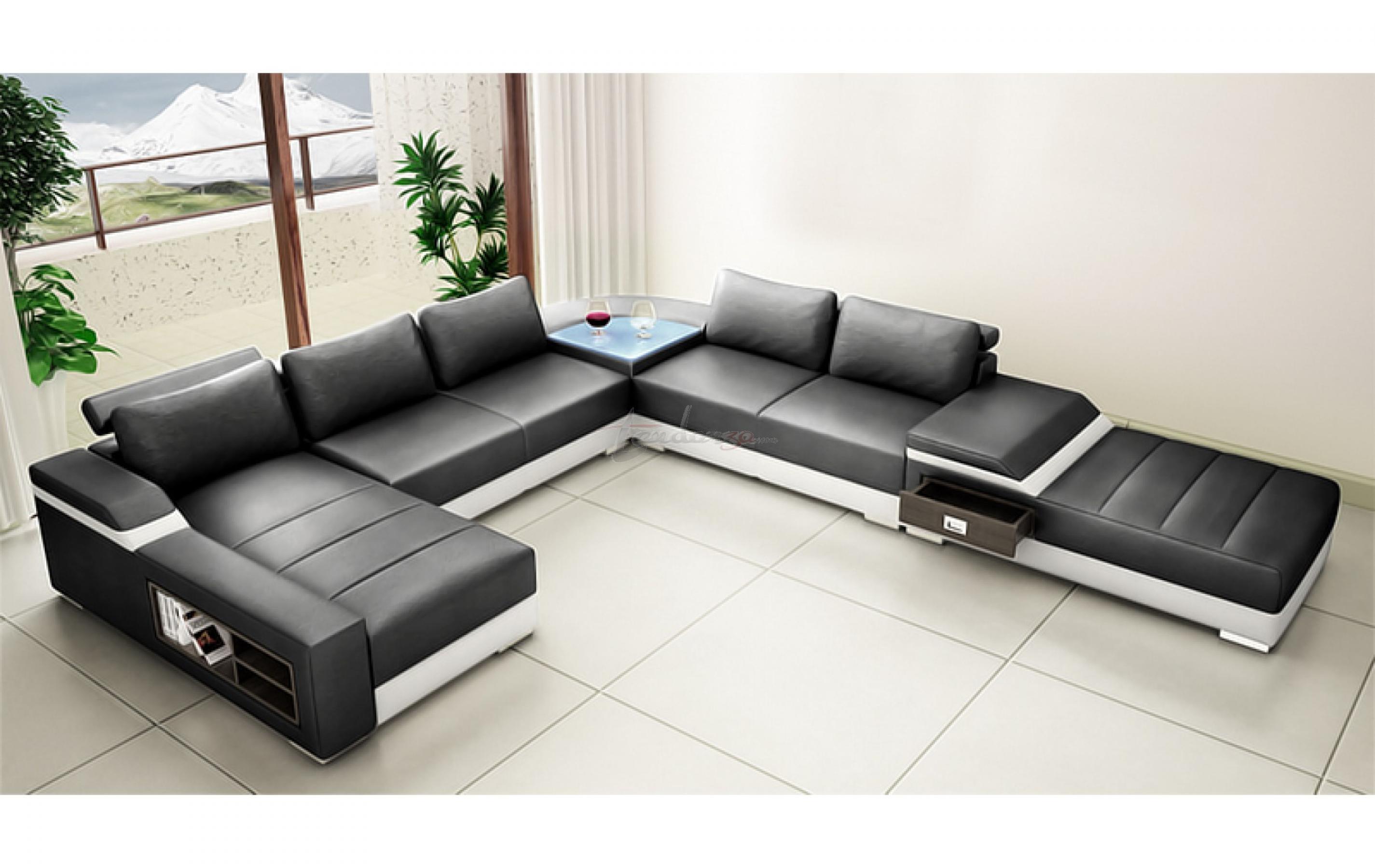 photos canap en u convertible. Black Bedroom Furniture Sets. Home Design Ideas