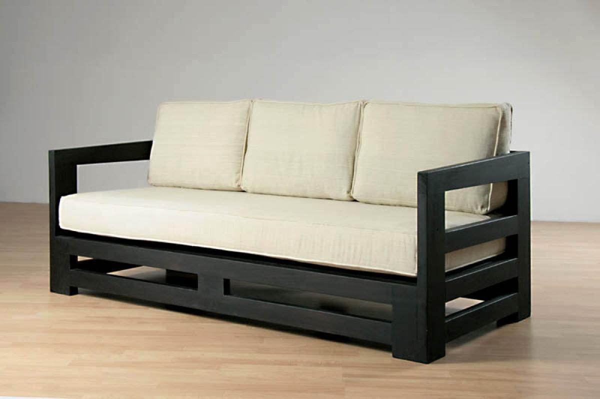 85 canape en bois massif meridienne bois hugues. Black Bedroom Furniture Sets. Home Design Ideas