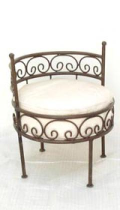 photos canap en fer forg lama. Black Bedroom Furniture Sets. Home Design Ideas