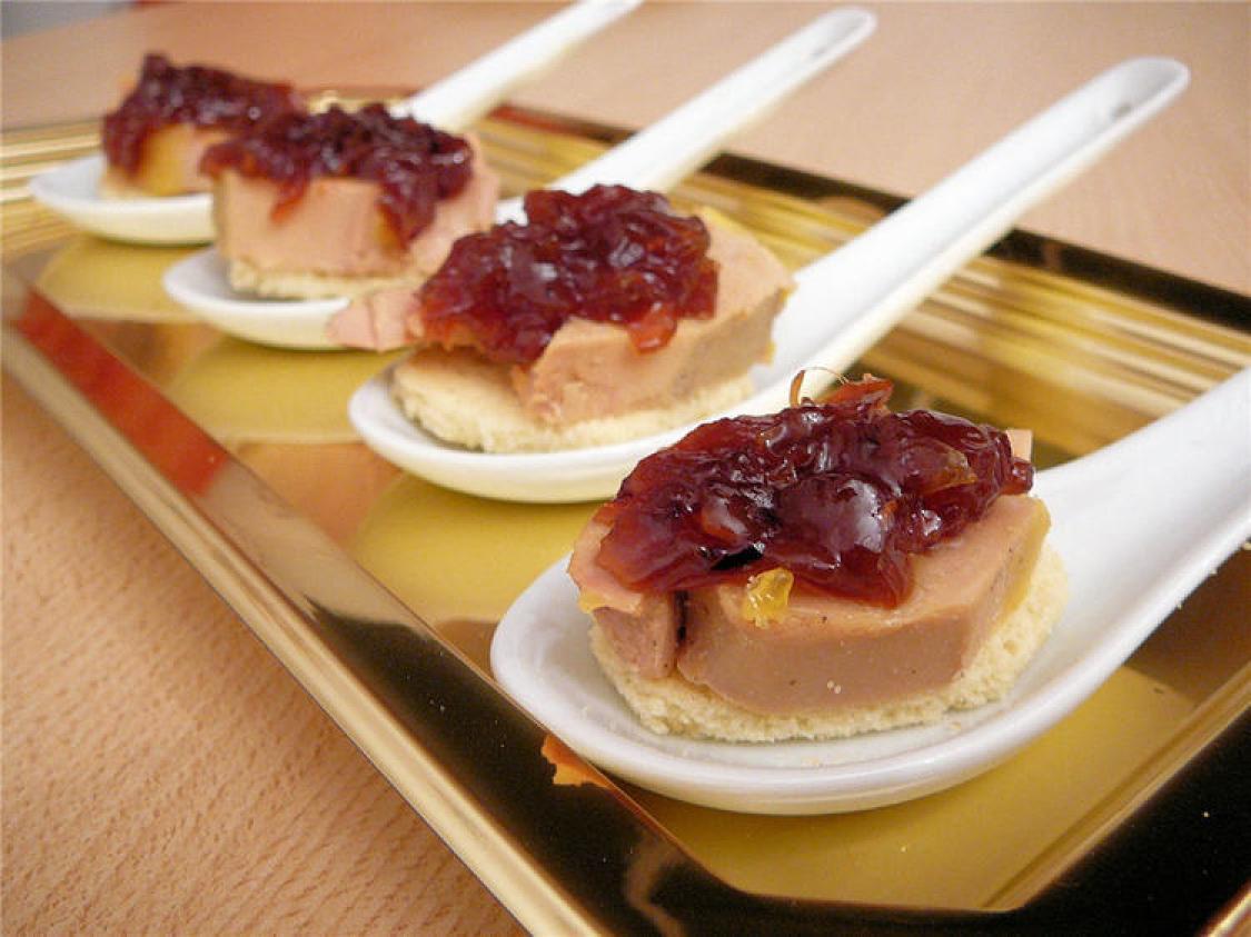 photos canap foie gras recette