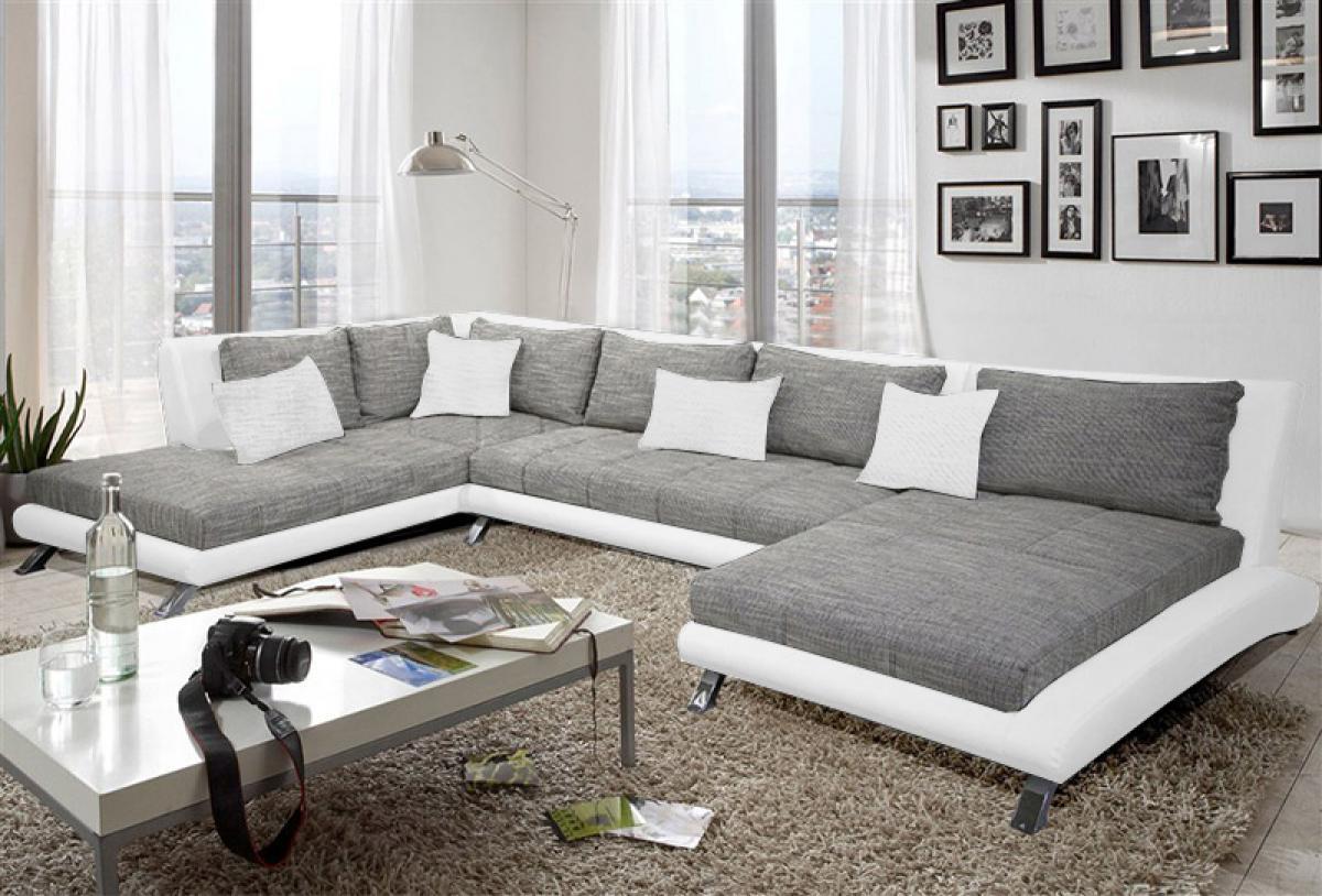 Photos canapé gris et blanc but