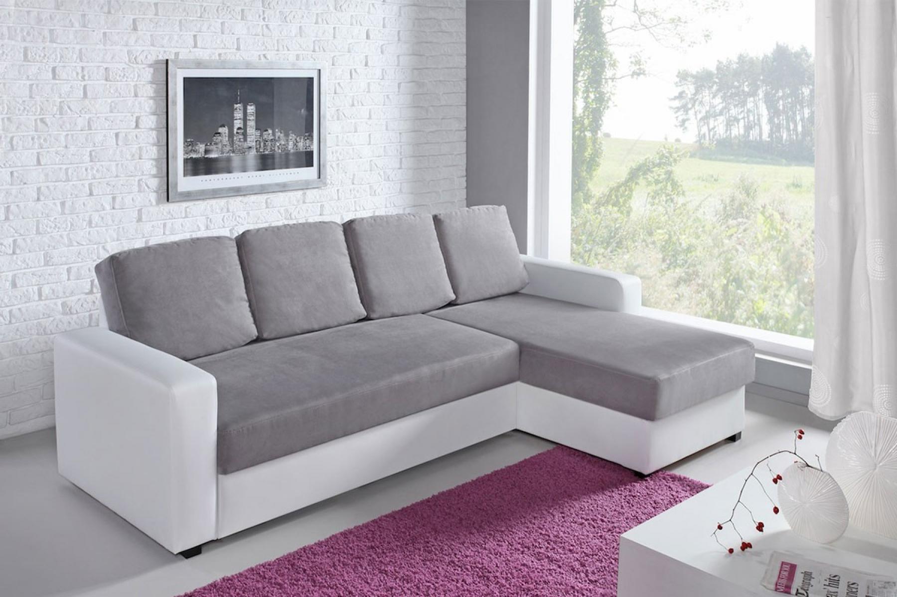 s canapé gris et blanc cdiscount