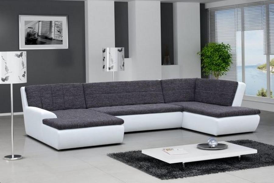 photos canap gris et blanc design. Black Bedroom Furniture Sets. Home Design Ideas