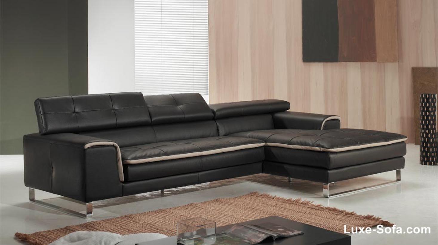 photos canap d 39 angle cuir design. Black Bedroom Furniture Sets. Home Design Ideas