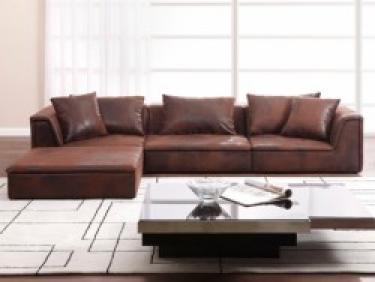 photos canap d 39 angle cuir vieilli marron. Black Bedroom Furniture Sets. Home Design Ideas