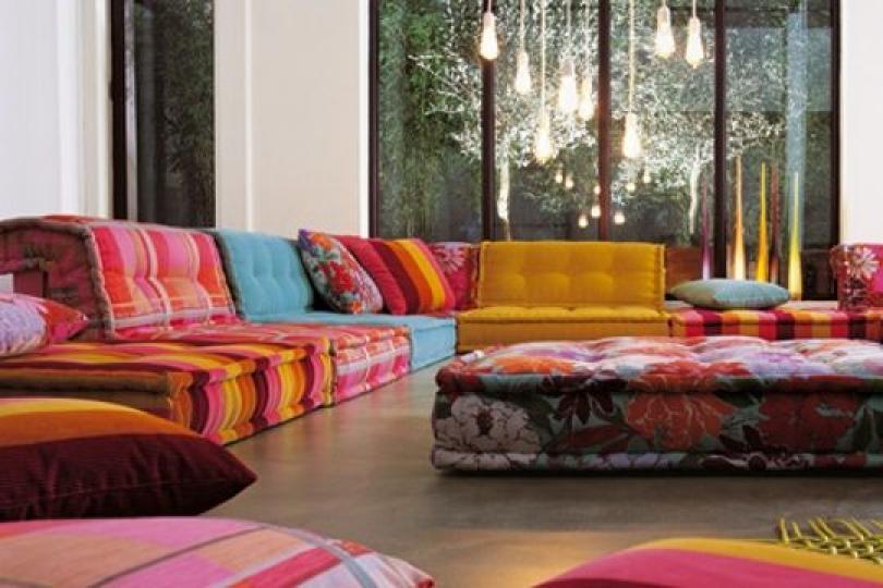 Photos canap indien maison du monde - Coussin pour canape pas cher ...