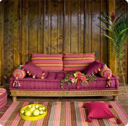 Photos canap indien maison du monde for Banquette indienne maison du monde