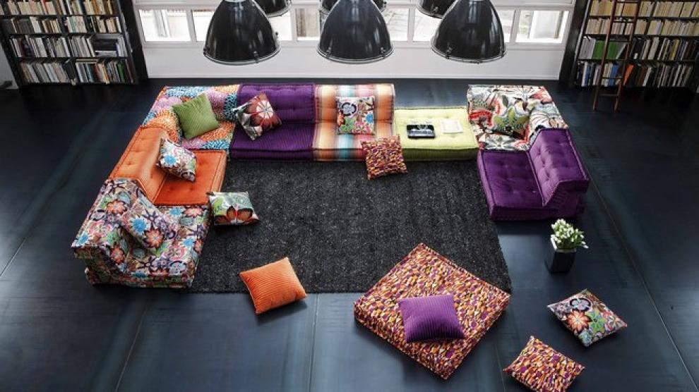 photos canap kenzo mah jong. Black Bedroom Furniture Sets. Home Design Ideas
