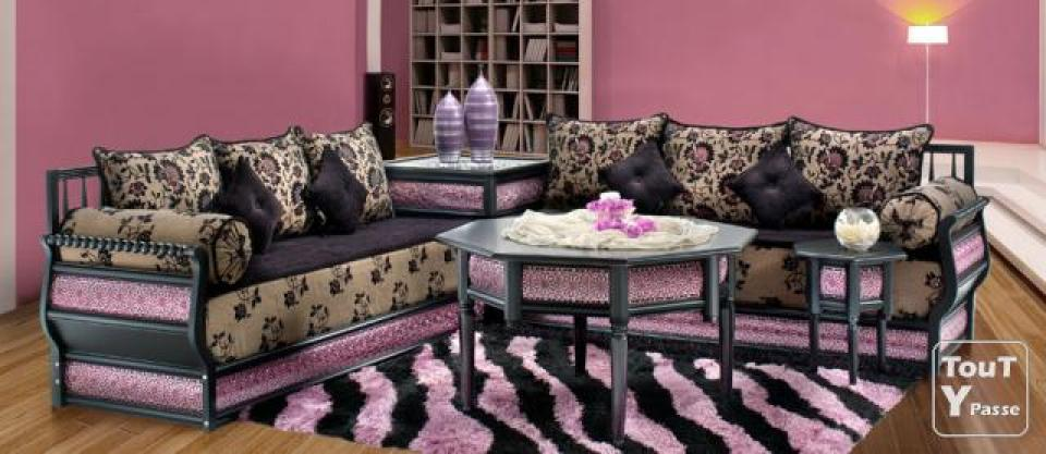 photos canap marocain pas cher. Black Bedroom Furniture Sets. Home Design Ideas