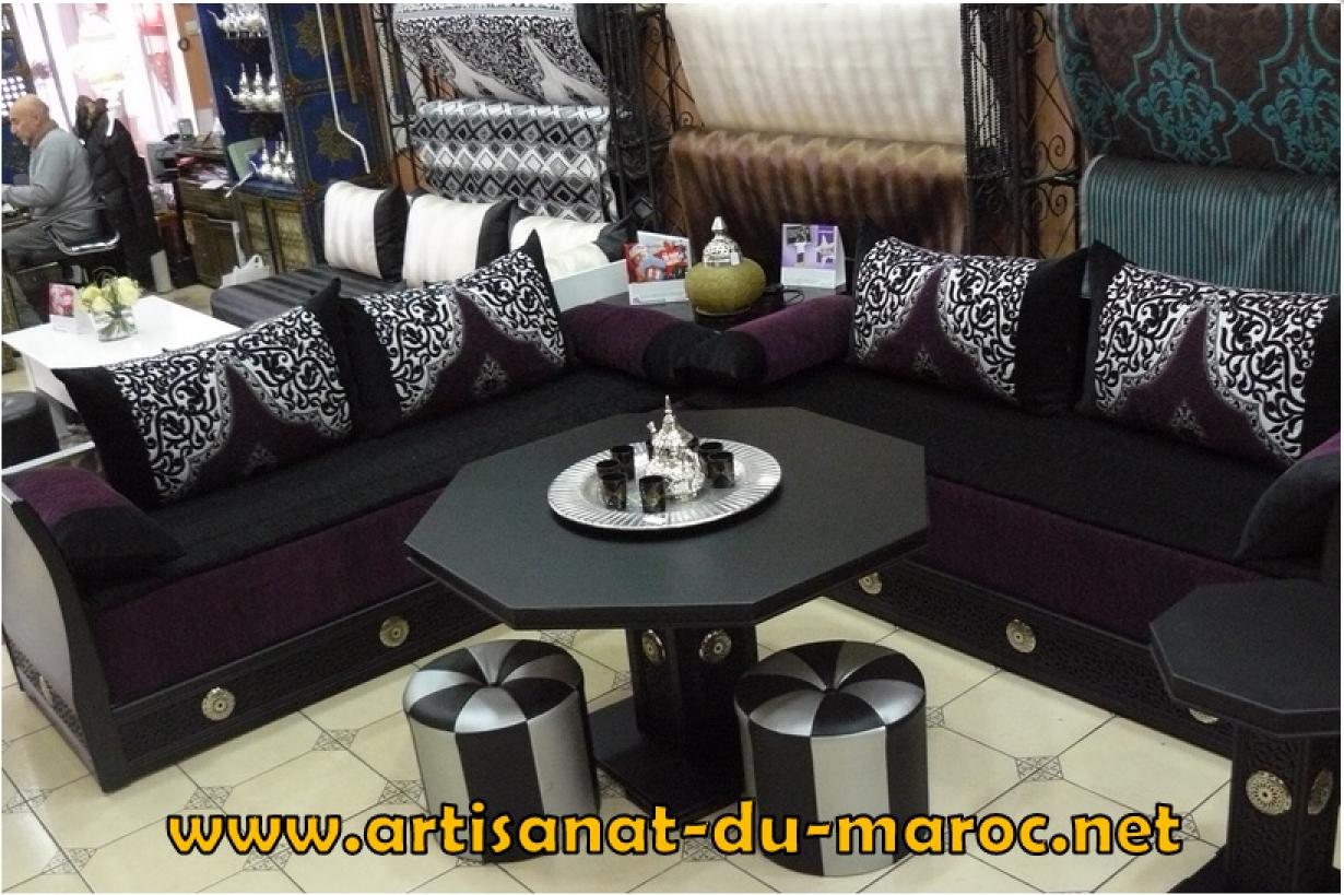 salon marocain moderne deluxe. Black Bedroom Furniture Sets. Home Design Ideas