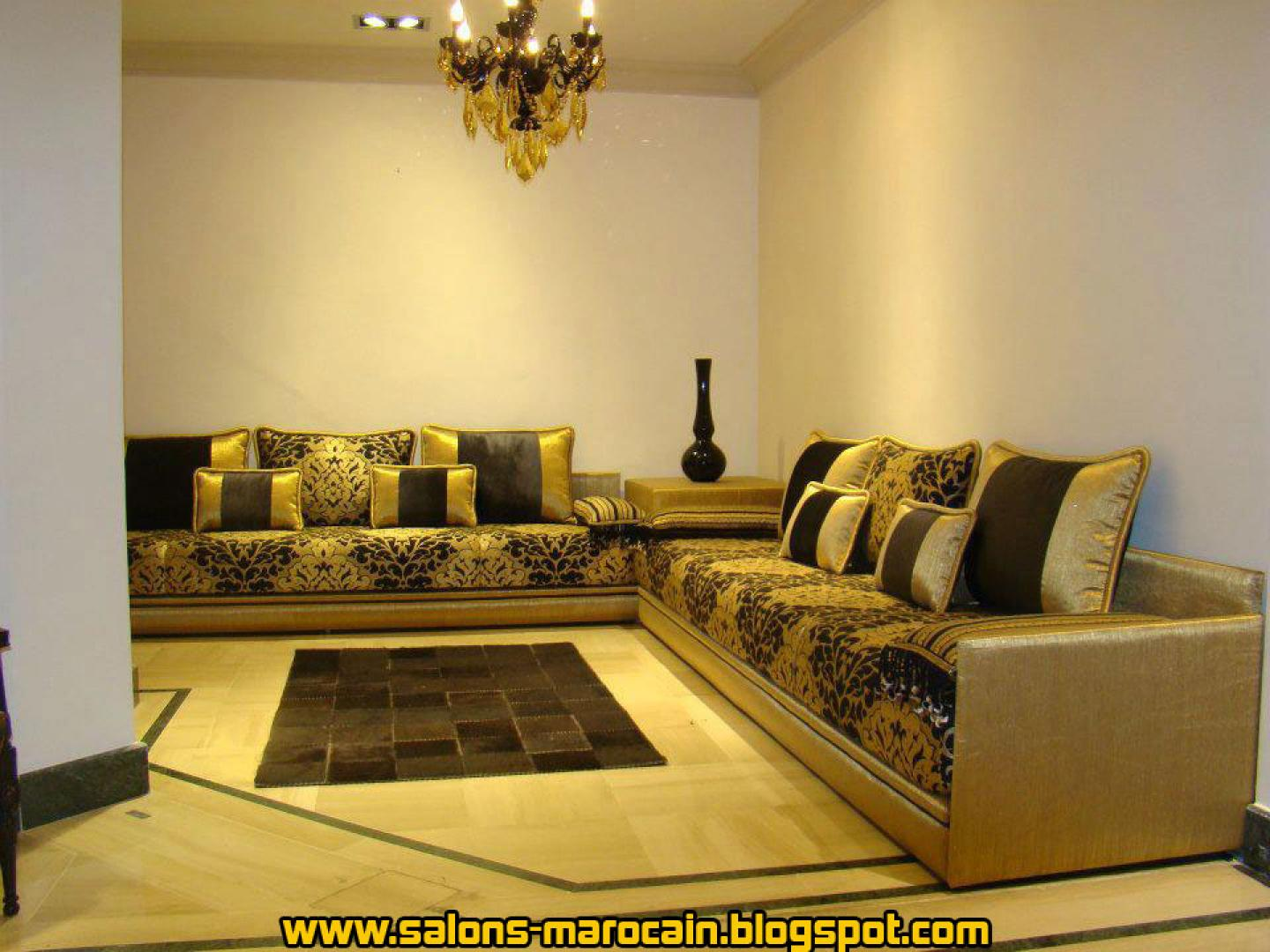 deco salon marocain moderne. Black Bedroom Furniture Sets. Home Design Ideas