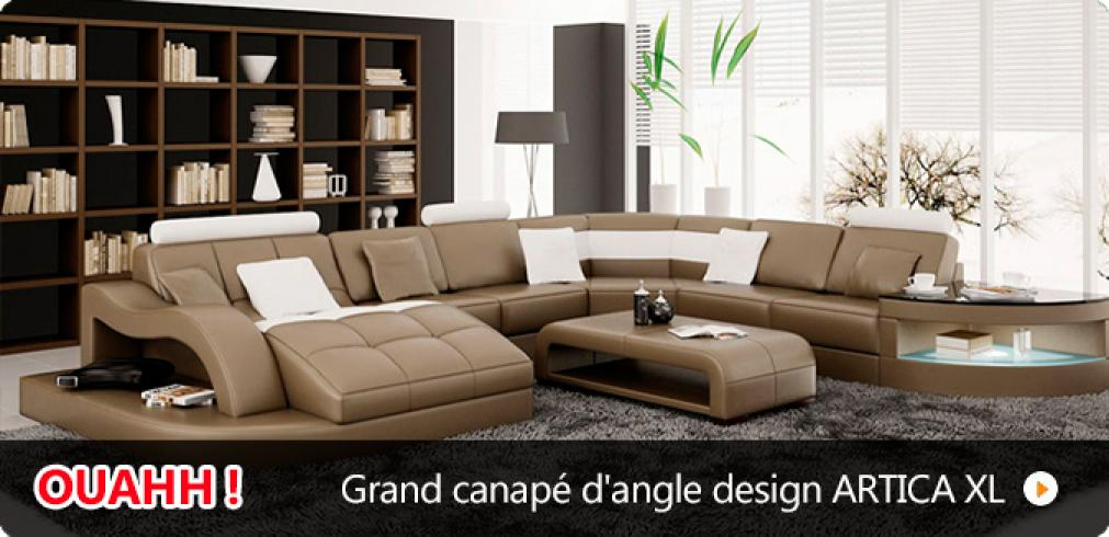 photos canap d 39 angle design pas cher. Black Bedroom Furniture Sets. Home Design Ideas