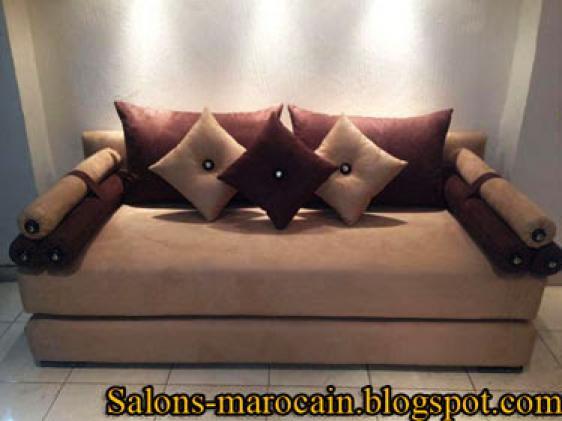 Photos canap moderne marocain - Decoration salon moderne 2013 en marron ...