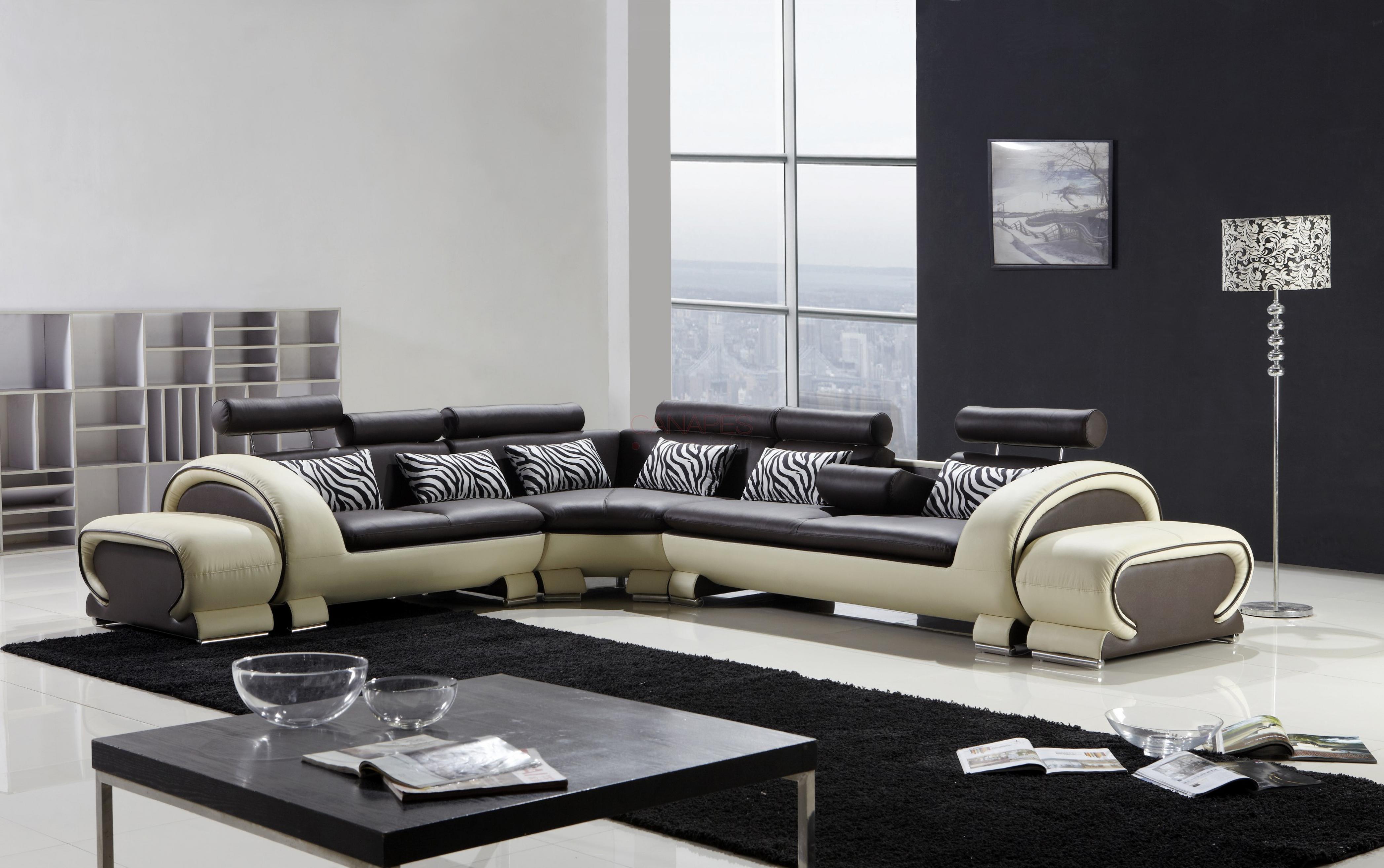 photos canap d 39 angle design tissu. Black Bedroom Furniture Sets. Home Design Ideas