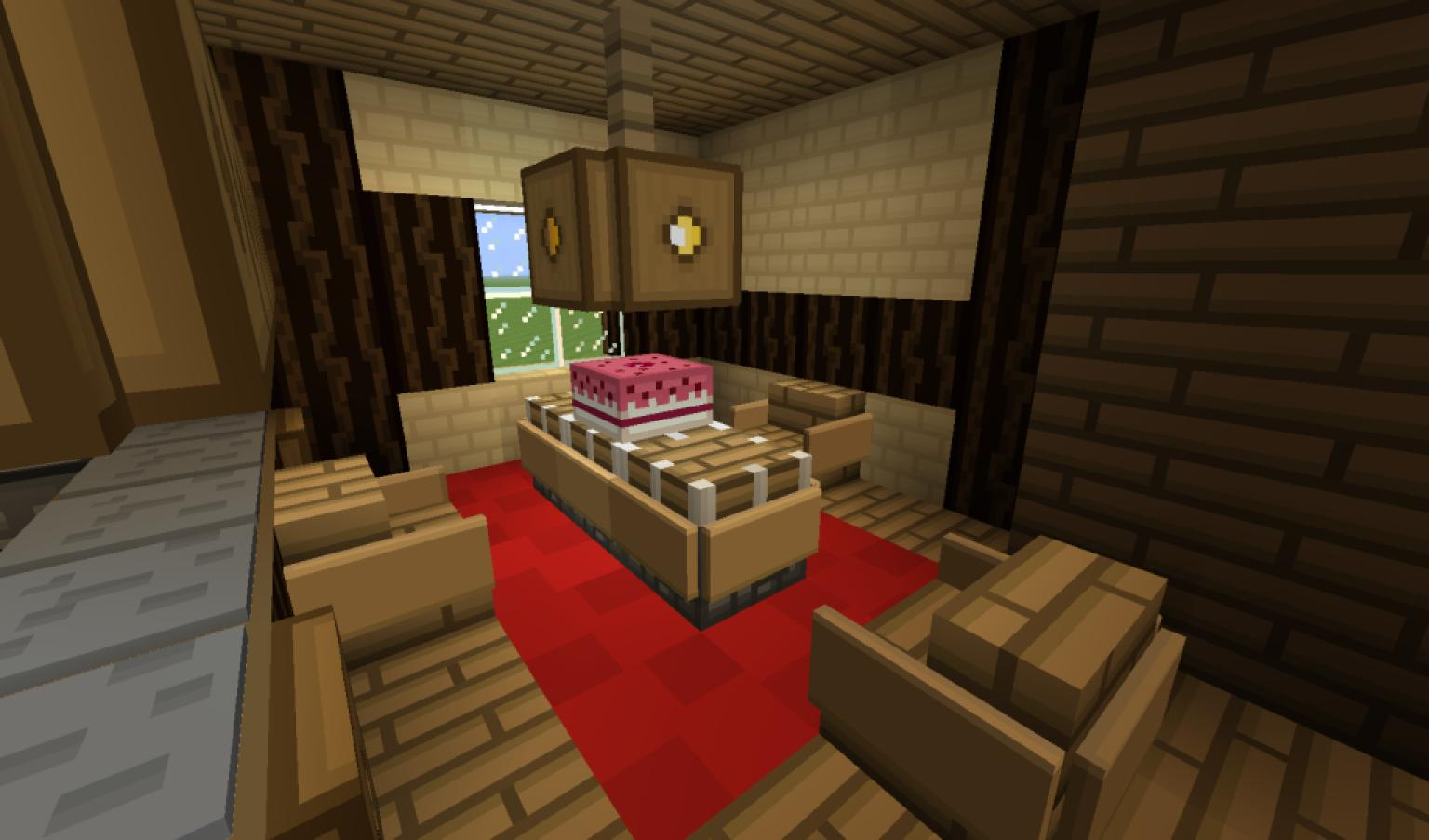 Photos canap minecraft wiki for Minecraft dining room designs