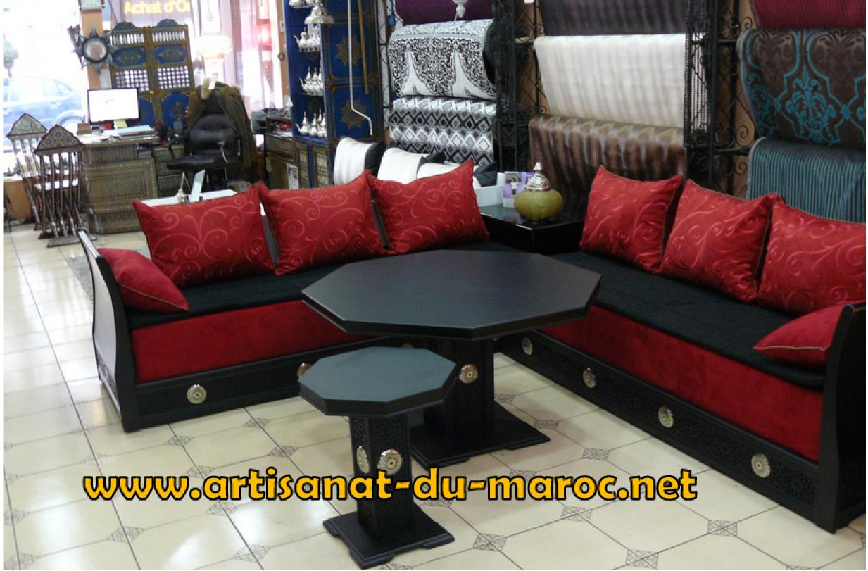 salon marocain moderne aparis. Black Bedroom Furniture Sets. Home Design Ideas