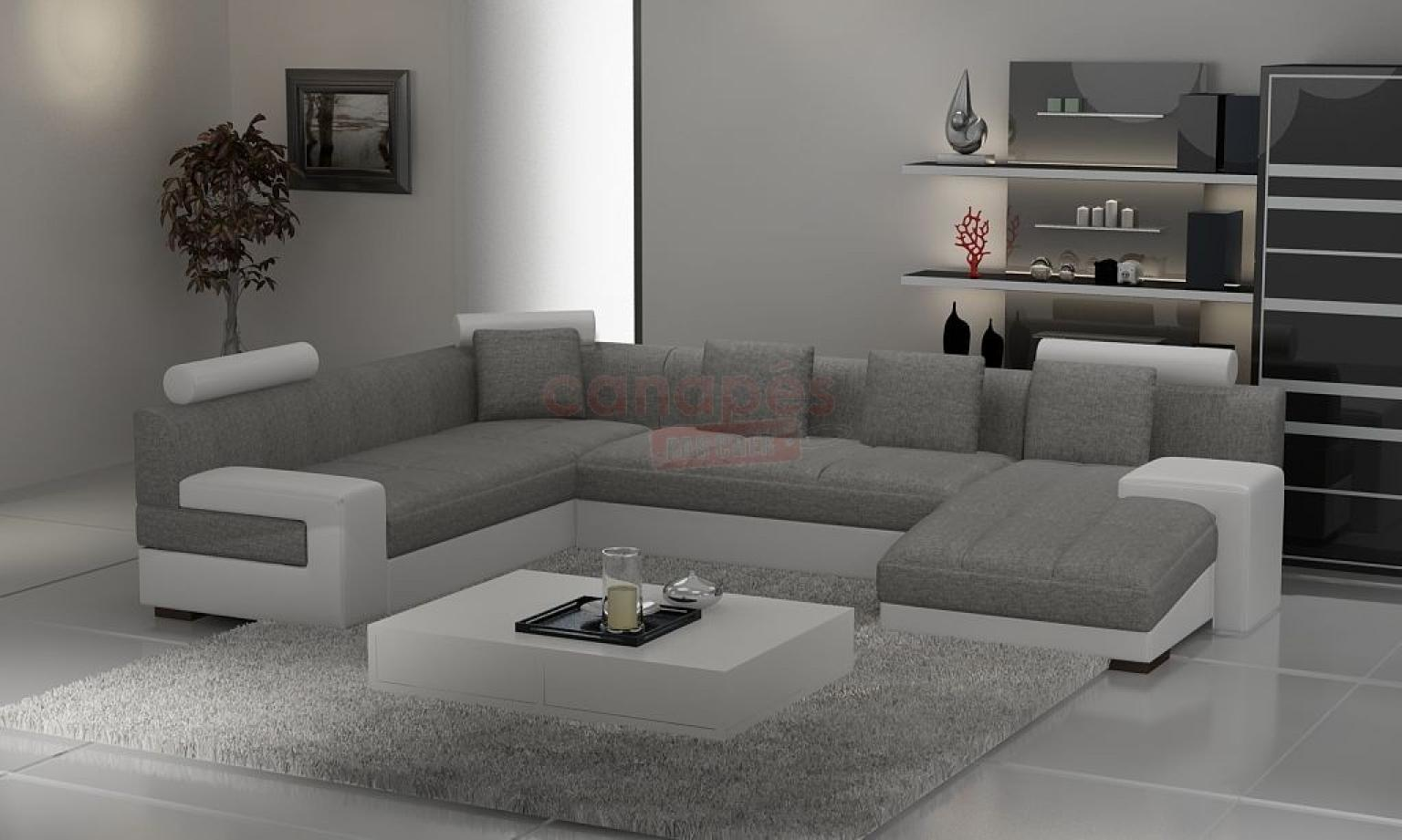 photos canap d 39 angle design microfibre. Black Bedroom Furniture Sets. Home Design Ideas