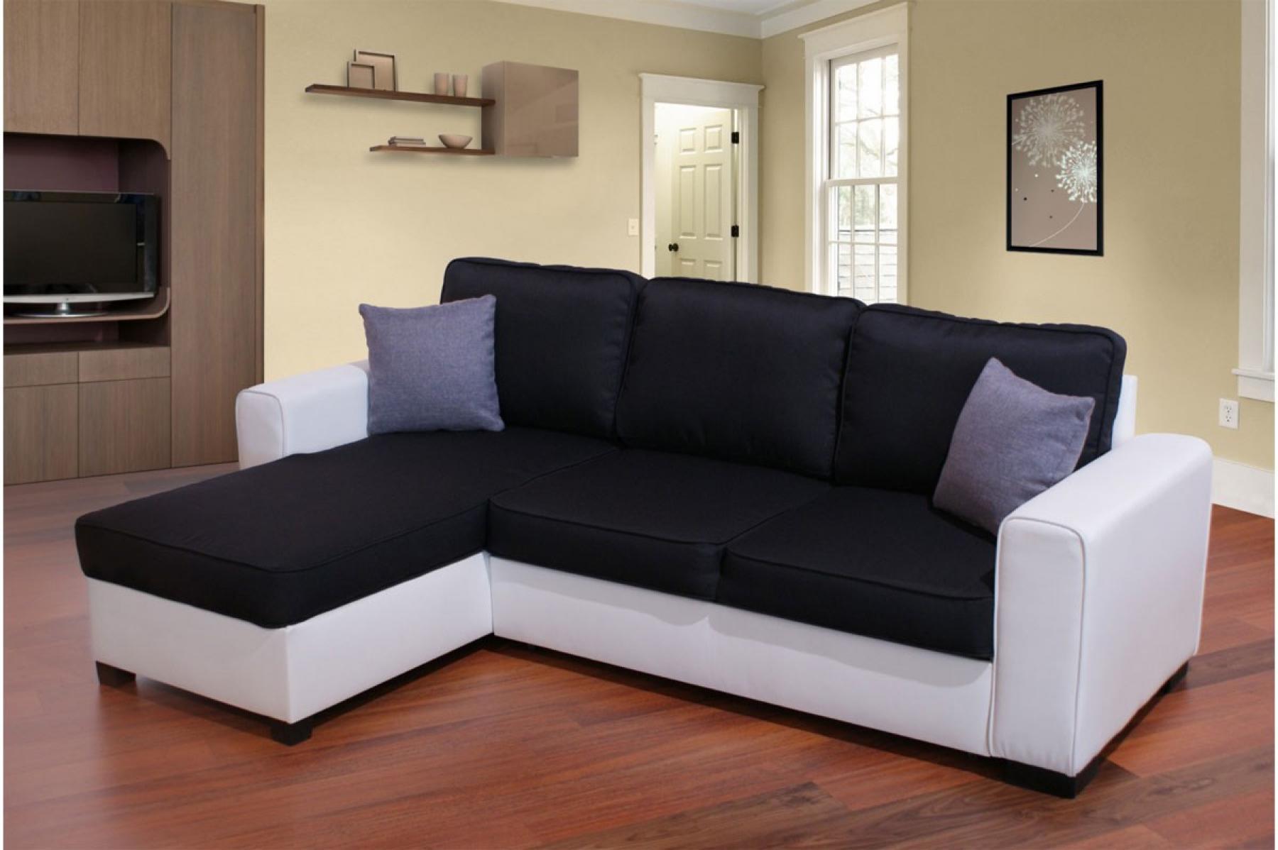 Photos canap noir et blanc simili cuir for Canape noir et blanc