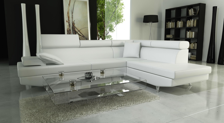 Photos canap noir et blanc simili cuir - Canape convertible blanc simili cuir ...