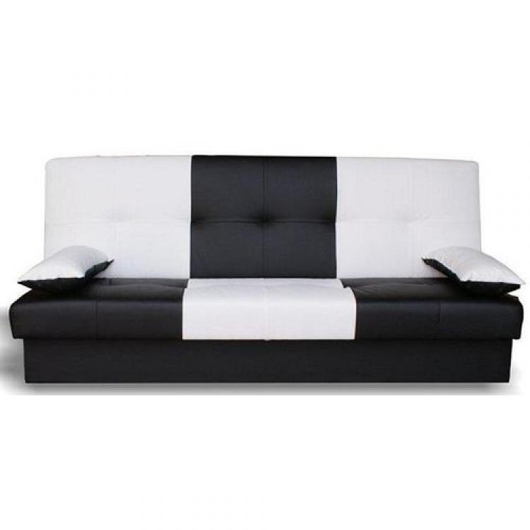 Photos canap noir et blanc convertible for Canape convertible bz ikea