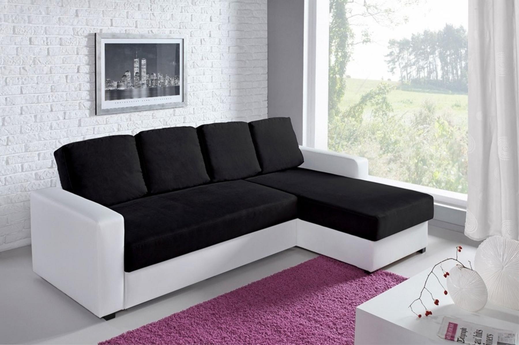 photos canap noir et blanc convertible. Black Bedroom Furniture Sets. Home Design Ideas