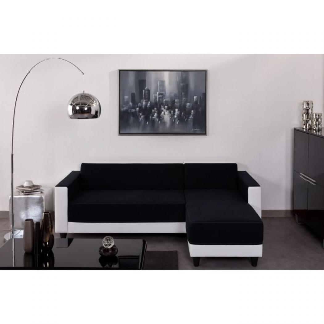 photos canap noir et blanc pas cher. Black Bedroom Furniture Sets. Home Design Ideas