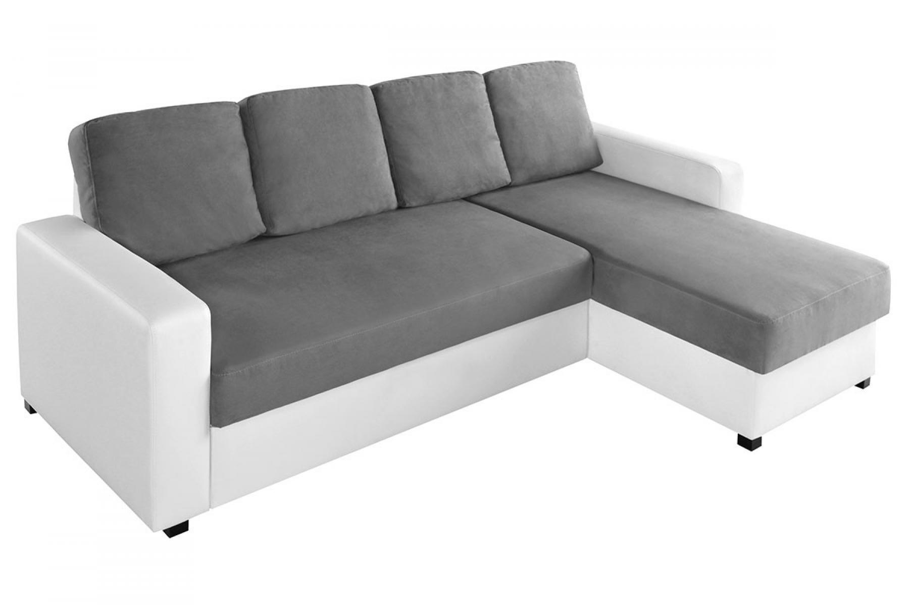 Photos canap d 39 angle gris et blanc - Canape gris et blanc conforama ...