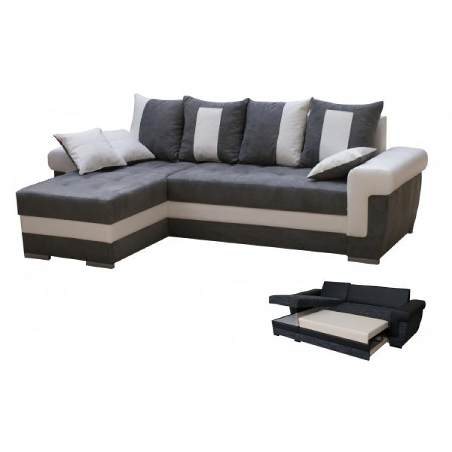 photos canap d 39 angle gris convertible. Black Bedroom Furniture Sets. Home Design Ideas