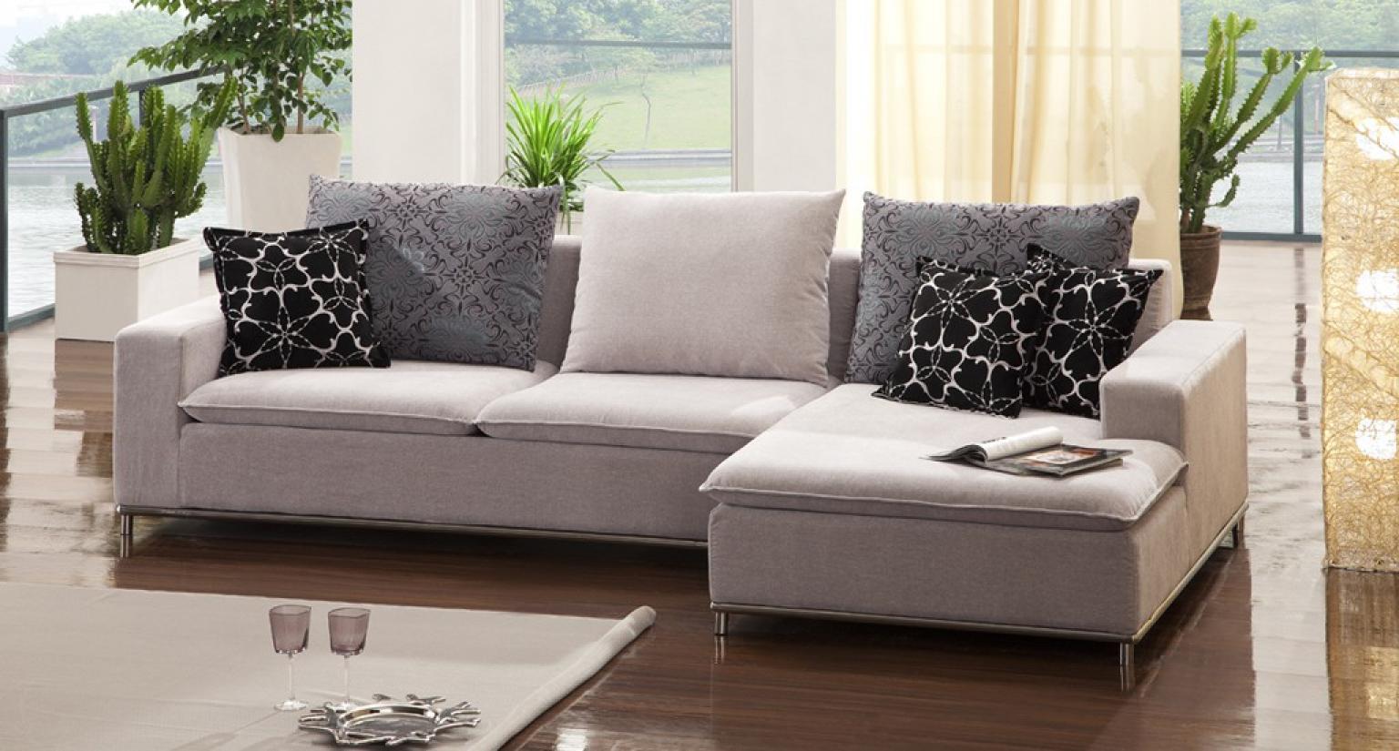 photos canap d 39 angle tissu beige. Black Bedroom Furniture Sets. Home Design Ideas