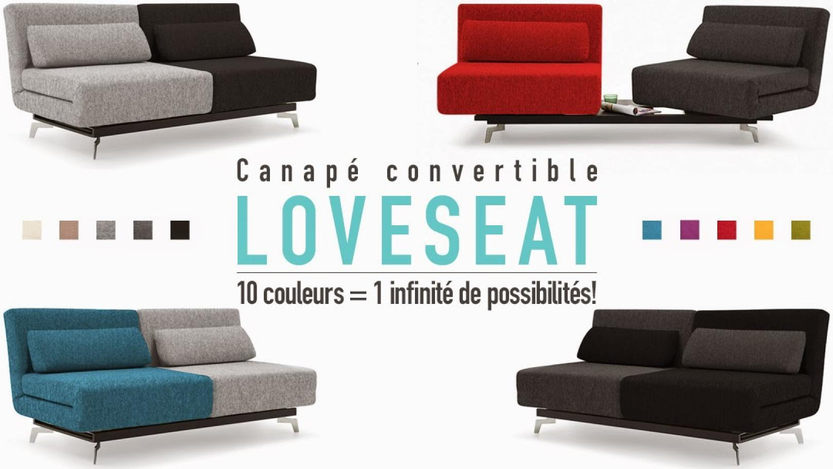 photos canap convertible design loveseat plus. Black Bedroom Furniture Sets. Home Design Ideas