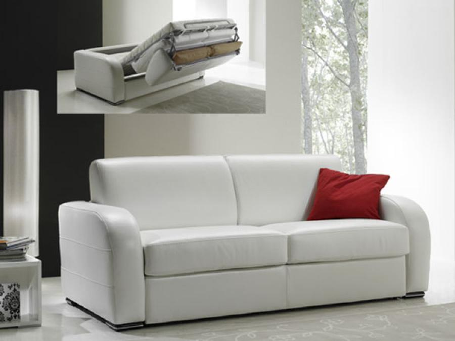 Photos canap convertible 3 places cuir - Canape 7 places convertible ...