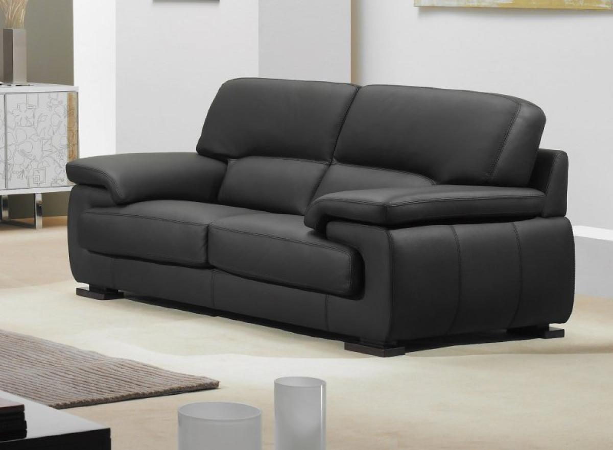 Photos canap convertible cuir 3 places - Habitat canape convertible ...
