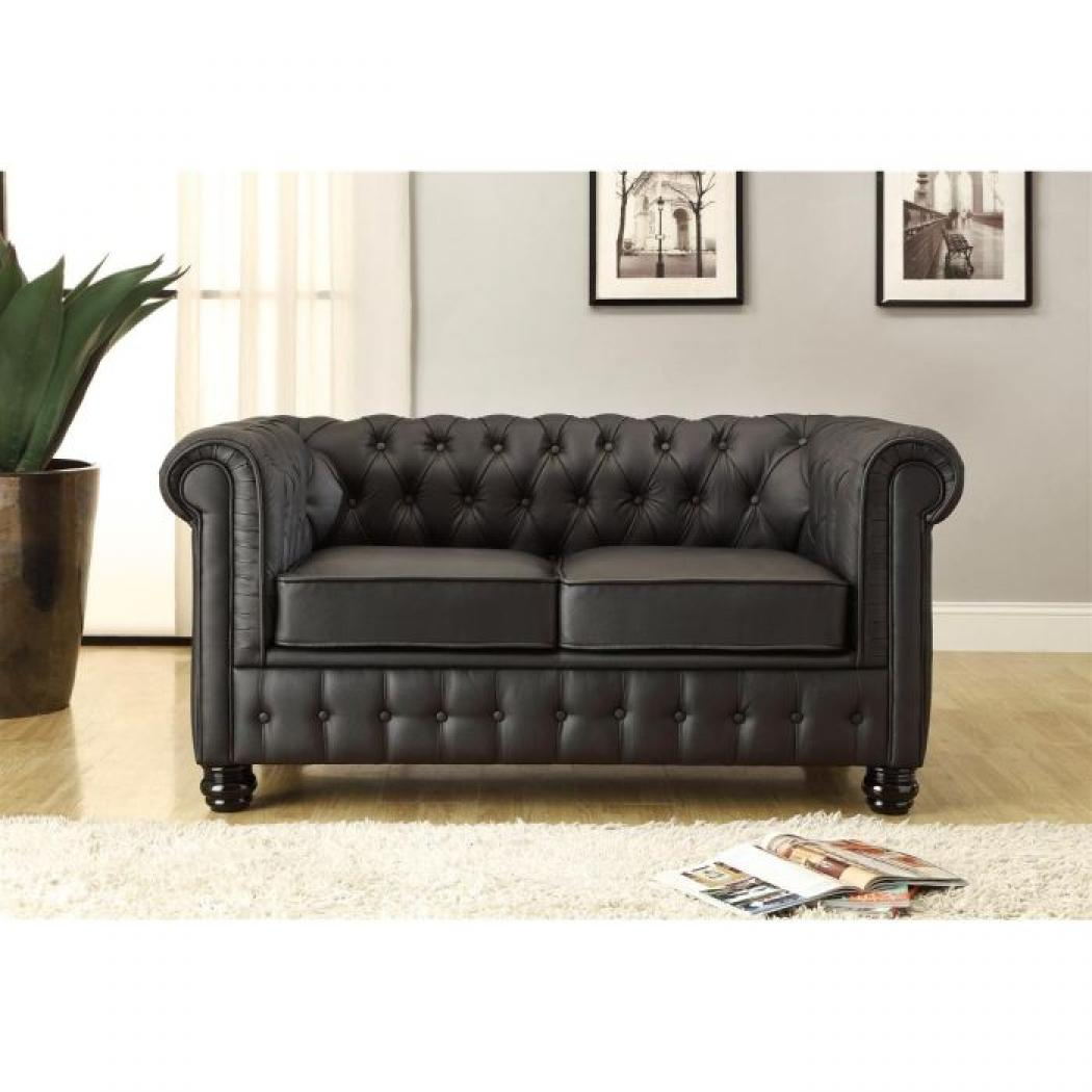 photos canap convertible cuir 2 places. Black Bedroom Furniture Sets. Home Design Ideas