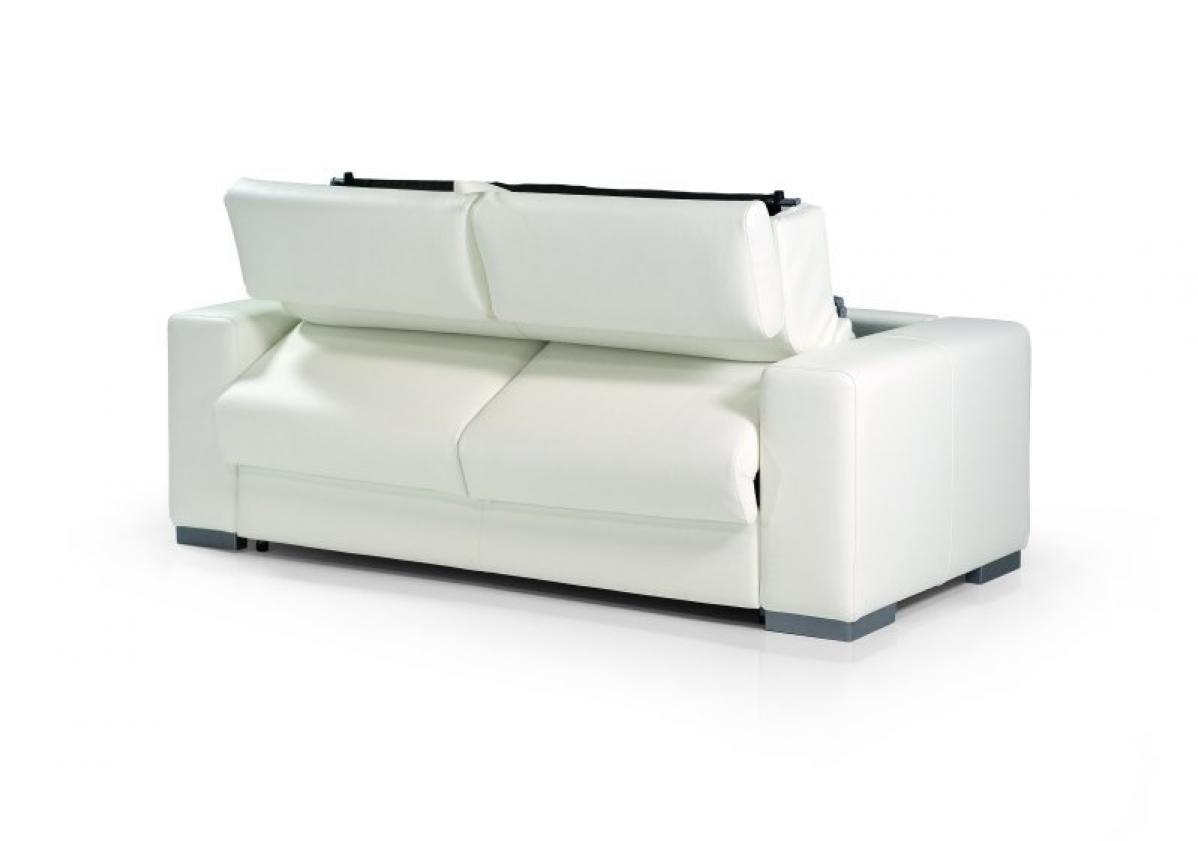 Photos canap convertible cuir blanc for Canape convertible cuir blanc
