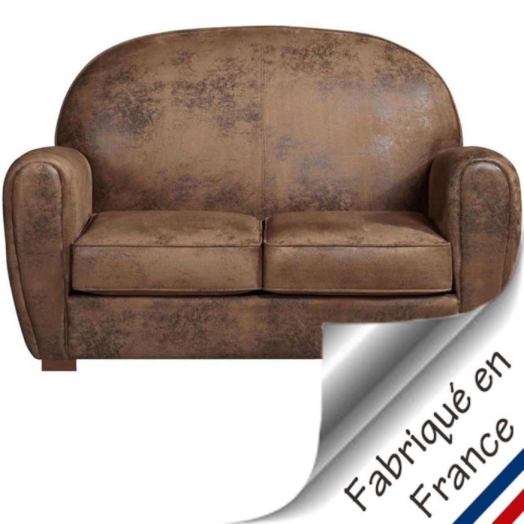 s canapé convertible cuir vieilli