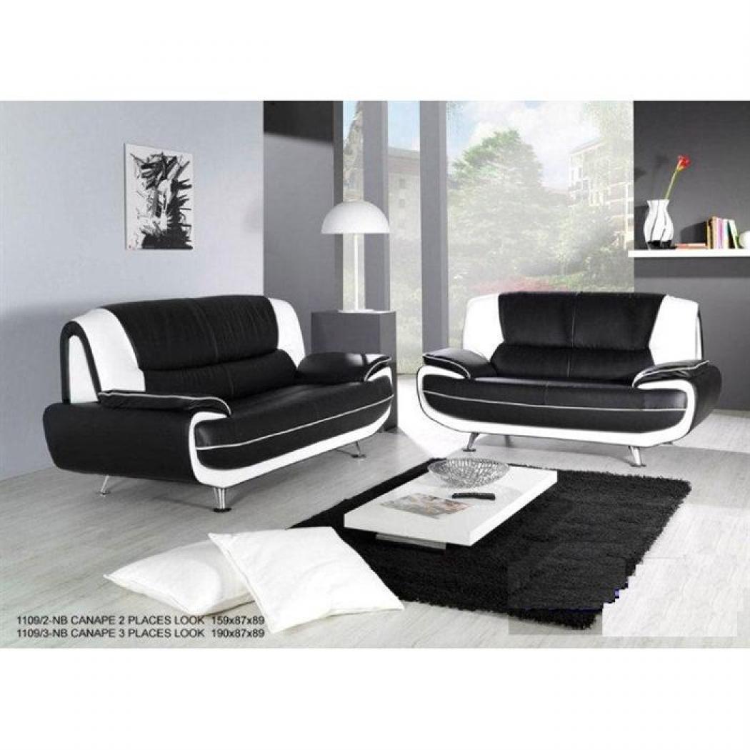 Photos canap design pas cher noir et blanc - Canape design noir et blanc ...