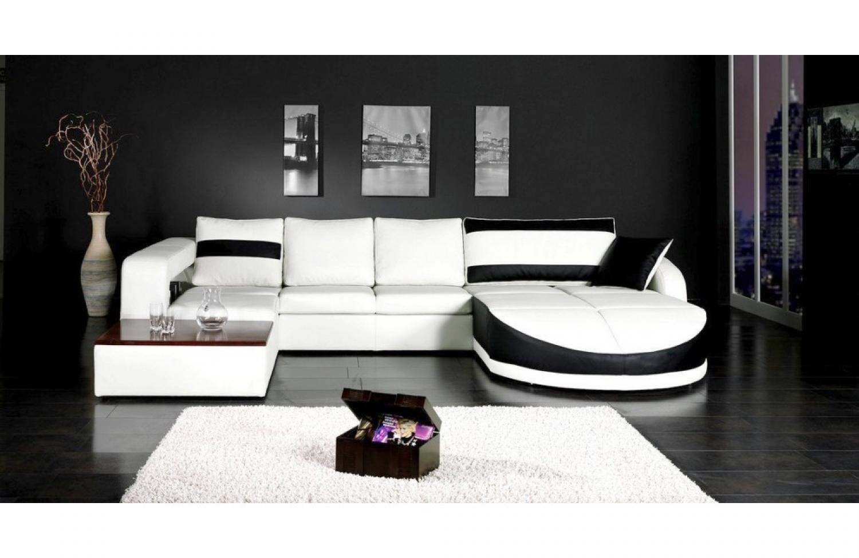Photos canap design pas cher noir et blanc - Canape blanc pas cher ...