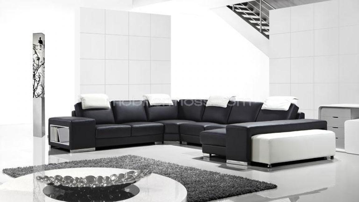 Photos canap design pas cher noir et blanc - Canape noir et blanc pas cher ...