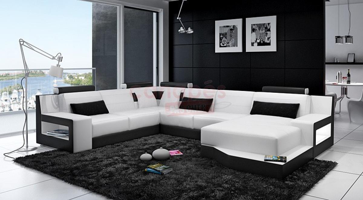 Photos canap design pas cher noir et blanc - Canape design pas cher ...