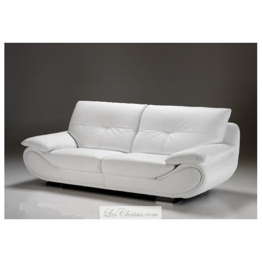 s canapé design cuir blanc