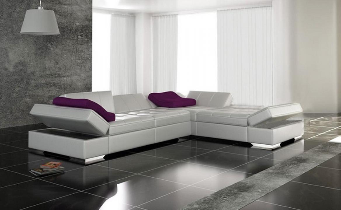 Photos canap design cuir blanc for Canape design cuir