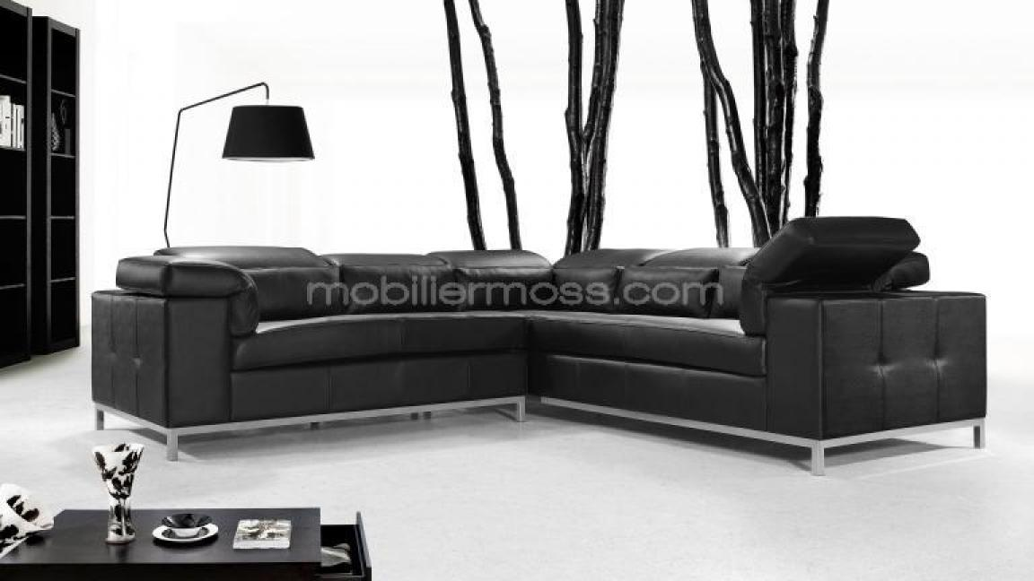 photos canap design noir cuir. Black Bedroom Furniture Sets. Home Design Ideas