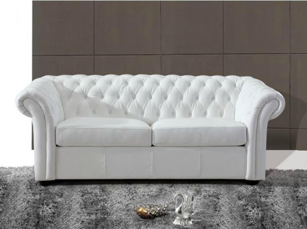 Canape chesterfield cuir blanc 28 images canap 233 for Canape chesterfield cuir