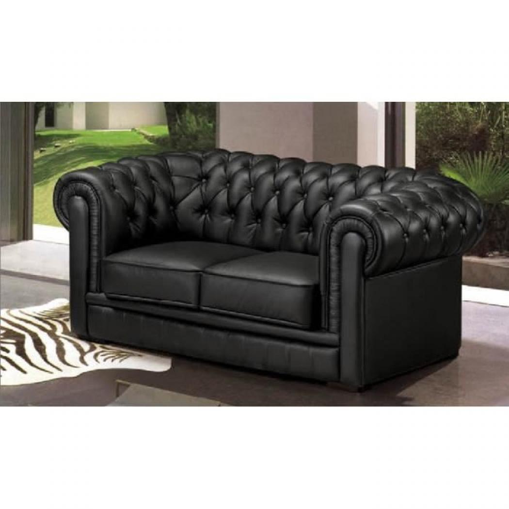 photos canap chesterfield cuir noir. Black Bedroom Furniture Sets. Home Design Ideas