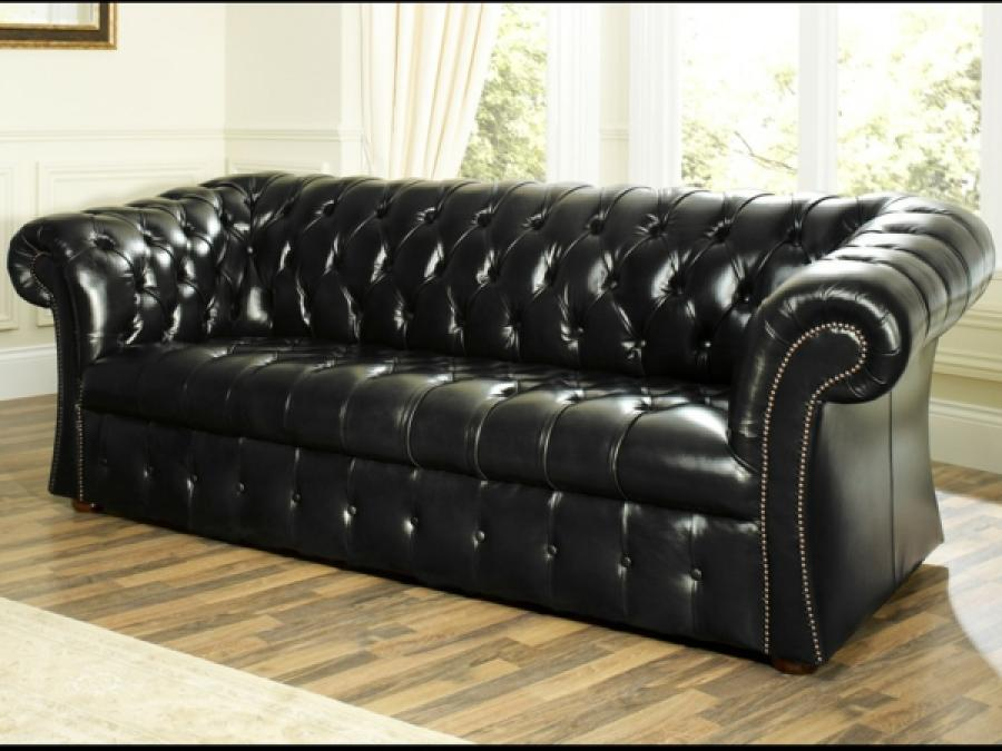 canape chesterfield noir maison design. Black Bedroom Furniture Sets. Home Design Ideas